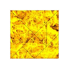Yellow Abstract Background Acrylic Tangram Puzzle (4  X 4 )
