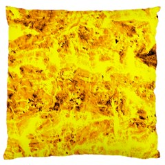 Yellow Abstract Background Large Cushion Case (one Side)
