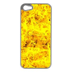 Yellow Abstract Background Apple Iphone 5 Case (silver)