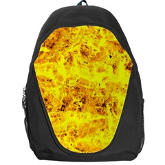 Yellow Abstract Background Backpack Bag