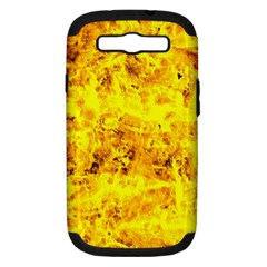 Yellow Abstract Background Samsung Galaxy S Iii Hardshell Case (pc+silicone)