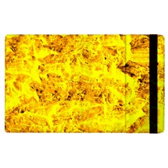 Yellow Abstract Background Apple Ipad 2 Flip Case