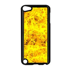 Yellow Abstract Background Apple Ipod Touch 5 Case (black)