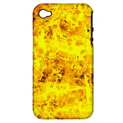 Yellow Abstract Background Apple Iphone 4/4s Hardshell Case (pc+silicone)