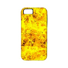 Yellow Abstract Background Apple Iphone 5 Classic Hardshell Case (pc+silicone)