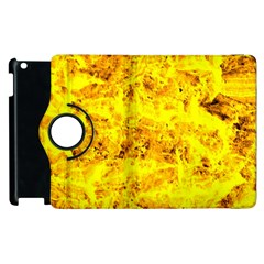 Yellow Abstract Background Apple Ipad 2 Flip 360 Case