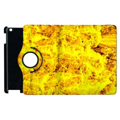 Yellow Abstract Background Apple Ipad 3/4 Flip 360 Case