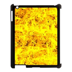 Yellow Abstract Background Apple Ipad 3/4 Case (black)