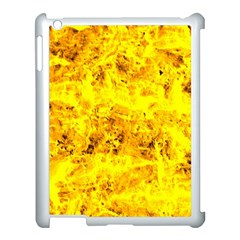 Yellow Abstract Background Apple Ipad 3/4 Case (white)