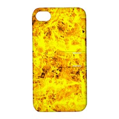 Yellow Abstract Background Apple Iphone 4/4s Hardshell Case With Stand
