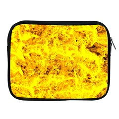 Yellow Abstract Background Apple Ipad 2/3/4 Zipper Cases