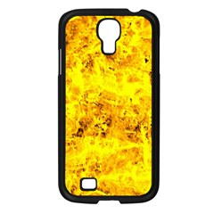 Yellow Abstract Background Samsung Galaxy S4 I9500/ I9505 Case (black)