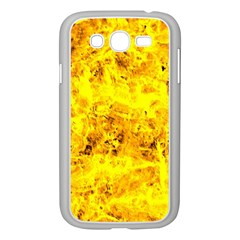 Yellow Abstract Background Samsung Galaxy Grand Duos I9082 Case (white)