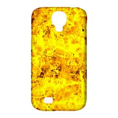 Yellow Abstract Background Samsung Galaxy S4 Classic Hardshell Case (pc+silicone)