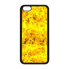 Yellow Abstract Background Apple Iphone 5c Seamless Case (black)
