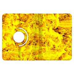 Yellow Abstract Background Kindle Fire Hdx Flip 360 Case