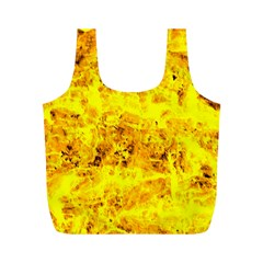 Yellow Abstract Background Full Print Recycle Bags (m)