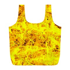 Yellow Abstract Background Full Print Recycle Bags (l)