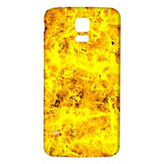 Yellow Abstract Background Samsung Galaxy S5 Back Case (White)