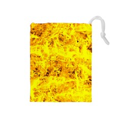 Yellow Abstract Background Drawstring Pouches (medium)