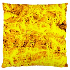 Yellow Abstract Background Large Flano Cushion Case (two Sides)