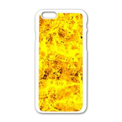 Yellow Abstract Background Apple Iphone 6/6s White Enamel Case