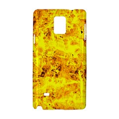 Yellow Abstract Background Samsung Galaxy Note 4 Hardshell Case