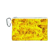 Yellow Abstract Background Canvas Cosmetic Bag (s)