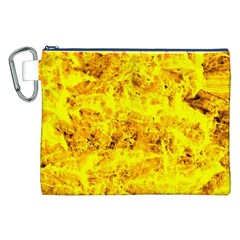 Yellow Abstract Background Canvas Cosmetic Bag (xxl)