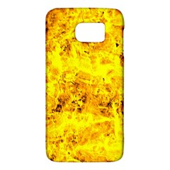 Yellow Abstract Background Galaxy S6