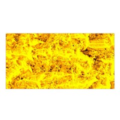 Yellow Abstract Background Satin Shawl