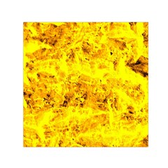 Yellow Abstract Background Small Satin Scarf (square)