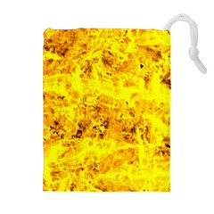 Yellow Abstract Background Drawstring Pouches (extra Large)
