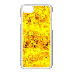 Yellow Abstract Background Apple Iphone 7 Seamless Case (white)