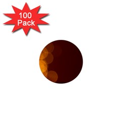 Yellow And Orange Blurred Lights Orange Gerberas Yellow Bokeh Background 1  Mini Buttons (100 Pack)