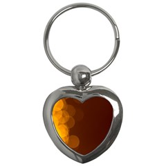 Yellow And Orange Blurred Lights Orange Gerberas Yellow Bokeh Background Key Chains (heart)
