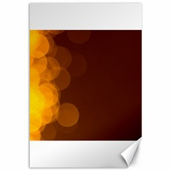 Yellow And Orange Blurred Lights Orange Gerberas Yellow Bokeh Background Canvas 12  X 18