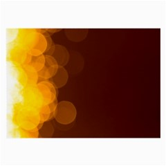 Yellow And Orange Blurred Lights Orange Gerberas Yellow Bokeh Background Large Glasses Cloth (2-Side)