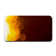Yellow And Orange Blurred Lights Orange Gerberas Yellow Bokeh Background Medium Bar Mats