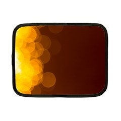 Yellow And Orange Blurred Lights Orange Gerberas Yellow Bokeh Background Netbook Case (small)