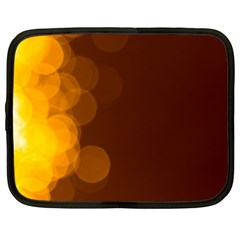 Yellow And Orange Blurred Lights Orange Gerberas Yellow Bokeh Background Netbook Case (large)