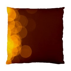 Yellow And Orange Blurred Lights Orange Gerberas Yellow Bokeh Background Standard Cushion Case (Two Sides)