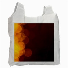 Yellow And Orange Blurred Lights Orange Gerberas Yellow Bokeh Background Recycle Bag (one Side)