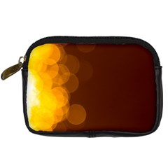 Yellow And Orange Blurred Lights Orange Gerberas Yellow Bokeh Background Digital Camera Cases