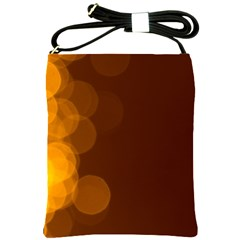 Yellow And Orange Blurred Lights Orange Gerberas Yellow Bokeh Background Shoulder Sling Bags