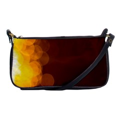 Yellow And Orange Blurred Lights Orange Gerberas Yellow Bokeh Background Shoulder Clutch Bags