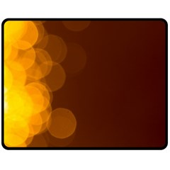 Yellow And Orange Blurred Lights Orange Gerberas Yellow Bokeh Background Fleece Blanket (medium)