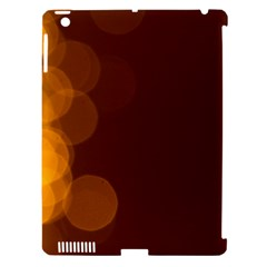 Yellow And Orange Blurred Lights Orange Gerberas Yellow Bokeh Background Apple Ipad 3/4 Hardshell Case (compatible With Smart Cover)