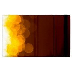Yellow And Orange Blurred Lights Orange Gerberas Yellow Bokeh Background Apple Ipad 3/4 Flip Case