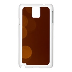 Yellow And Orange Blurred Lights Orange Gerberas Yellow Bokeh Background Samsung Galaxy Note 3 N9005 Case (white)